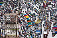 Germany, Berlin, Friedrichshain_Kreuzberg, East Side Gallery, vestige of the Wall, work by artist Schamil Gimajew dating from the 1990´s, renovated in...