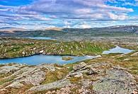 Eldbekkskardvatnet lake, Blåfjella-Skjækerfjella National Park, Nord-Trøndelag county, Norway, Scandinavia, Europe