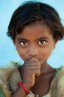 Young girl in Kanha, India rural India.