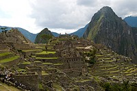 Machu Picchu ruins in the Peruvian Andes.