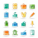 Business, Office and Finance Icons _ Vector Icon Set