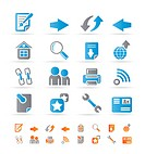 Website navigation and computer icons _ vector icon set