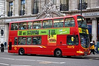 Double decker bus in London, England.