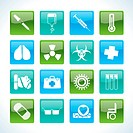 collection of medical themed icons and warning_signs _ Vector Icon Set