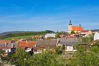 Strílky with Church of the Assumption, Strilky, Kromeriz district, Zlin region, Moravia, Czech Republic, Europe