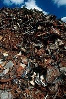 Post_consumer scrap metal recycled to steel mills in Attleboro, Massachusetts.