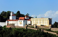 Veste Oberhaus fortress, Passau, Lower Bavaria, Bavaria, Germany, Europe, PublicGround