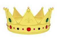 Royal crown isolated on white