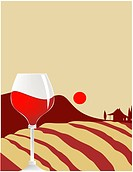 Wine composition _ vector illustration. Image contains gradient meshes.