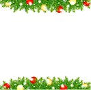 Xmas And Happy New Year Border, Vector Illustration With Gradient Mesh