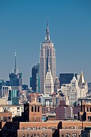 Empire State Building, Midtown Manhattan skyline, New York City, USA