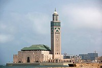Mosque Hassan II, Casablanca, Morocco, the Maghreb, Africa