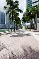 Miami River Walk, Downtown Miami, Florida, USA