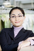 Close up of Asian businesswoman