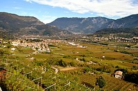 Scenic view on town of Trentino, Italy