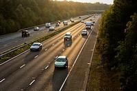 UK, England, Motorway A3 daylight