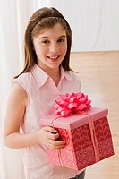 Irish girl holding gift