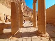 Colonnade. Hatshepsut Temple. West Bank. Luxor old Thebas. Upper Egypt.