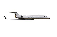 Private jet isolated on over white background