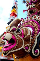 Animal head decorated by Balinese people for ceremony
