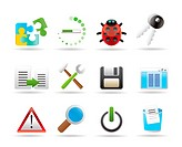 developer, programming and application icons _ vector icon set