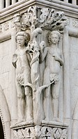 Adam and eve at the doge´s palace in venice
