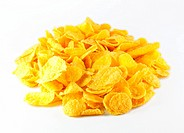 pile of cornflakes isolated