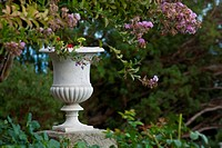 Marble vase in the park