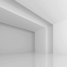 3d Illustration of White Futuristic Hall Background