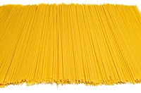 Italian pasta over white background