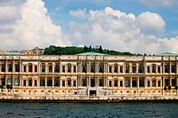 Ciragan Palace, view from the Bosporus Strait in Istanbul, Turkey