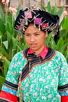 portrait women ethnic group of Laos, minority of Lolo at Luang Namtha