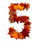 Number 5 made with autumn leaves isolated on white with clipping path. So you can easily cut it out and place over the top of a design. Find others sy...