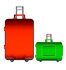 colorful illustration of travel bag on a white background