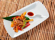 Japanese Stir Fried Vegetables.closeup