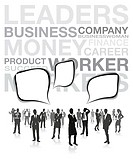 business people background silhouettes