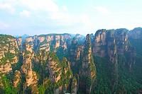 Mountain landscape of Zhangjiajie in China