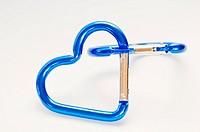 blue Heart Shaped on white blackground