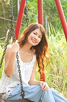 A beautiful and happy asian woman portrait