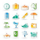 travel, trip and tourism icons _ vector icon set