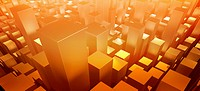 Orange three dimensional rectangular shapes (thumbnail)
