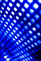 Abstract grid of blue and white squares