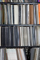 Rows of records on shelves (thumbnail)