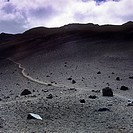 A trail in the Haleakala National Park