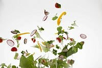 Salad against a white background (thumbnail)