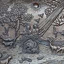 Adam and Eve silver carve art