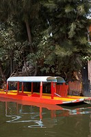 Two Trajinera boats, a gondola type Mexican tour boat