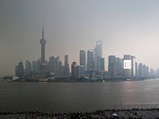 Shanghai skyline at dusk (thumbnail)