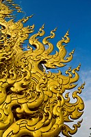 Thai art at white temple Wat rong khun, Chiangrai, Thailand