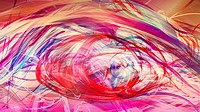 Bright multicolored swirling abstract